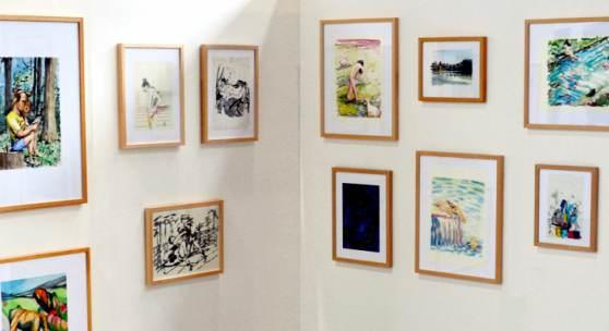 Der Mensch im Vordergrund - Zeichnungen Galerie S.L.C