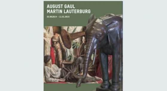 August Gaul, Stehender junger Elefant, 1916 –1917. Bronze; Sockel: Granit, 123 x 150 x 58,5 cm. Kunstmuseum Bern, Leihgabe der Zwillenberg-Stiftung/ Martin Lauterburg, Der Maler, 1928. Öl auf Leinwand, 137 x 170 cm. Kunstmuseum Bern