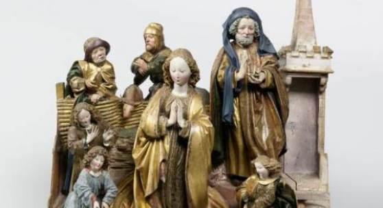 Straßburger Nachfolge Niclaus Gerhaerts von Leyden Geburt Christi, Straßburg, um 1470 Linde, originale Fassung, Höhe 60 cm Rijksmuseum, Amsterdam © Collection Rijksmuseum, Amsterdam