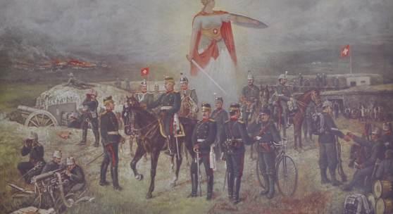 Gedenkblatt an die Grenzbesetzung 1914/15