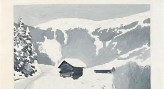 Gerhard Richter  Alpenlandschaft im Winter | 1966  Öl auf Leinwand | 40 x 45cm  Ergebnis: 875.000 Euro