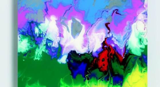 "Gerhard Richter  ""Abdallah"" | 2010  Lack hinter Glas | 16 x 16cm  Ergebnis: € 106.250"