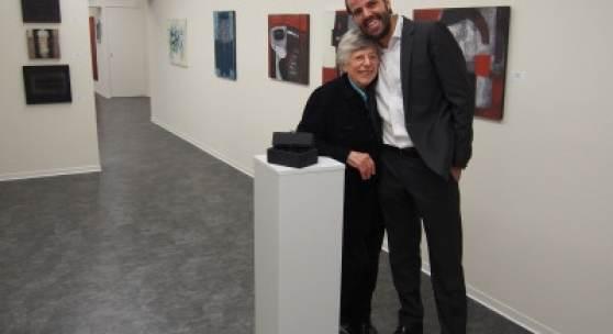 Gerlinde Wurth mit Galerist Manfred Kopriva