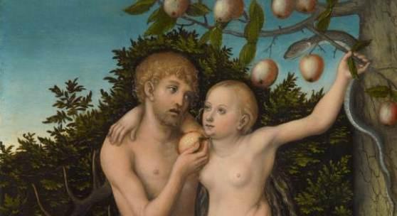Adam & Eva (Der Sündenfall) (1.0 MB) Lucas Cranach d. Ä. (1472 Kronach – 1553 Weimar) Wittenberg, nach 1537 53,3 cm x 37,1 cm © KHM mit MVK und ÖTM
