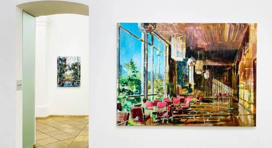 DÉNESH GHYCZY  Kino, 2020 Öl, Acryl auf Leinwand 170 x 230 cm