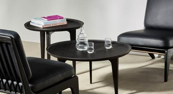 Gleda Armless Chairs Lounge-Tables Oak-Ebonised
