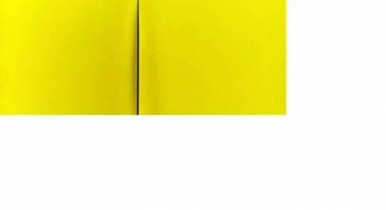 Lucio Fontana (1899 - 1968) Concetto spaziale, Attesa (68 T 77), 1968, Acryl/Leinwand, gelb, 73,5 x 60 cm Schätzwert € 400.000 - 600.000 Auktion 27. November 2013 Download