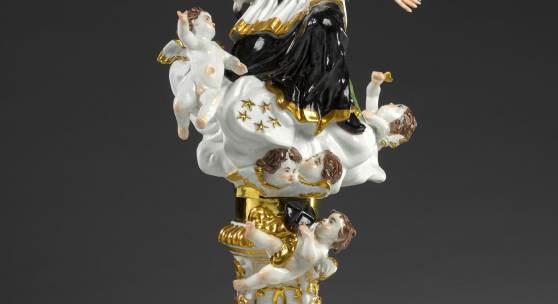 Gottlieb Kirchner (1706 - 1768)  St. John Nepomucene (St. John of Nepomuk)  Model by Gottlieb Kirchner, 1731.   Röbbig München