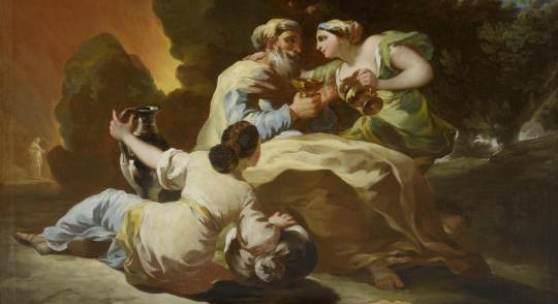 A162/3034 FRANCISCO DE GOYA (Fuentetodos 1746-1828 Bordeaux) Loth und seine Töchter. Öl auf Leinwand. 91,5x125 cm.  CHF 600 000 / 800 000