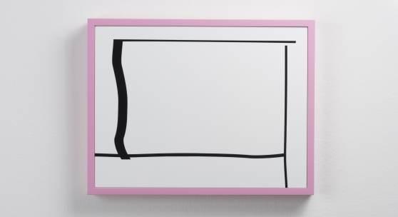 Gerald Rockenschaub Untitled, 2015 Acrylglas, MDF-Rahmen, lackiert 41 x 53 x 3,5 cm (16,14 x 20,87 x 1,38 in) (GR 1192)