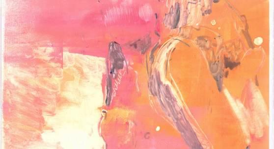 Tina Graf, o.T., 2019, Monotypie auf Papier, 53 x 72 cm