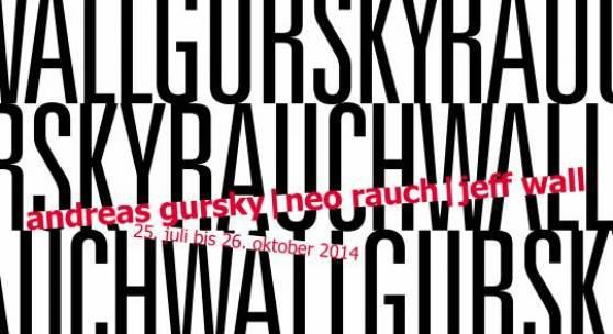 Ausstellungsplakat – quer »Andreas Gursky | Neo Rauch | Jeff Wall« kestnergesellschaft 2014