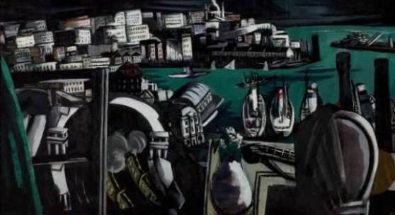 Max Beckmann (1884–1950) Der Hafen von Genua, 1927 Öl auf Leinwand 90.5 x 169.5 cm Göpel 269 St Louis Art Museum, Bequest of Morton D. Day Foto: St Louis Art Museum © ProLitteris, Zürich