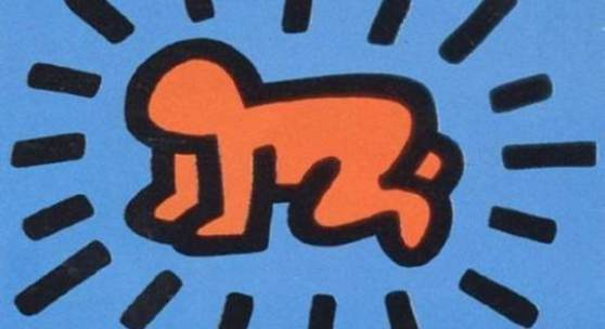 KEITH HARING Icons-White Icons