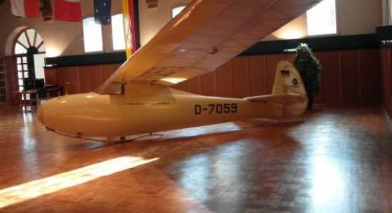 """(c) Deutsche Stiftung Denkmalschutz, Segelflugzeug """"Rhönbussard"""" in Gersfeld"""