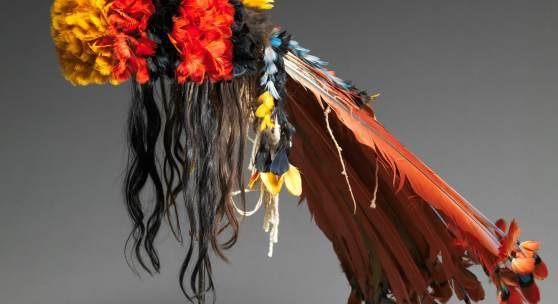 Headdress Myhara ,Rikbaktsa people, Brasil