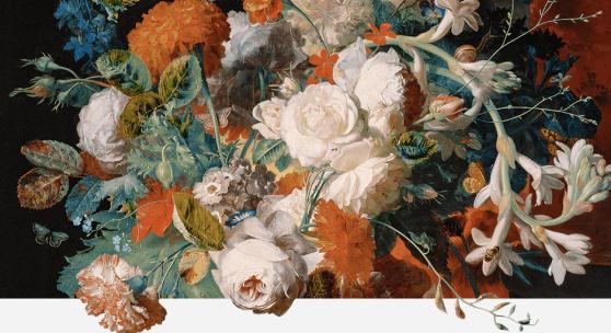 Jan van Huysum 1682–1749 tätig in Amsterdam  Blumenstrauß bei einer Säule um 1718/20