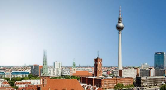 Ansicht Berlin bei Sonnenschein
