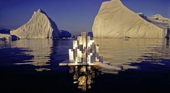 Heinz Mack, Licht-Architektur (Modell für eine schwimmende Forschungsstation in der Arktis), 1976, Fotografie: Thomas Höpker, Courtesy Archiv Atelier Mack © Heinz Mack/VG Bild-Kunst, Bonn 2020