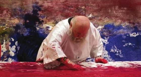 Hermann Nitsch, 60. Malaktion, 2011, Mike Weiss Gallery, New York, Foto: Brooke Eastburn