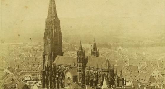 © Augustinermuseum – Städtische Museen Freiburg, Gottlieb Theodor Hase, Freiburger Münster vom Schlossberg, 1852–1855