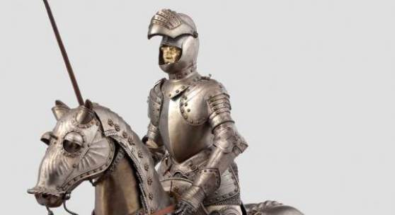 Hochwertiger Miniaturharnisch für Mann und Ross im Stil um 1530/40, E.Granger, Paris. Zuschlag: 25.000 Euro