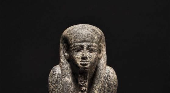 HH 71 LotNo 3501 Torso granite statue ancient Egyptian