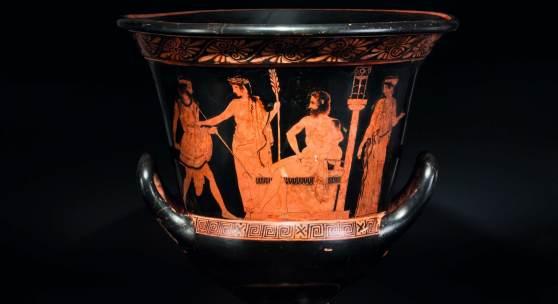 Attischer Kelchkrater des Hektor-Malers, fünftes Jahrhundert vor Christus. SP: 60000 Euro