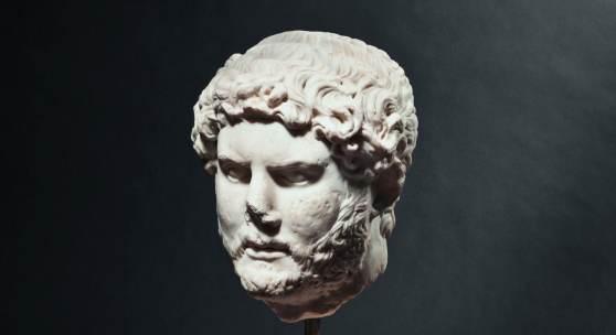Marmorporträt des Kaisers Hadrian, Reg. 117 - 138 nach Christus. Zuschlag: 75000 Euro