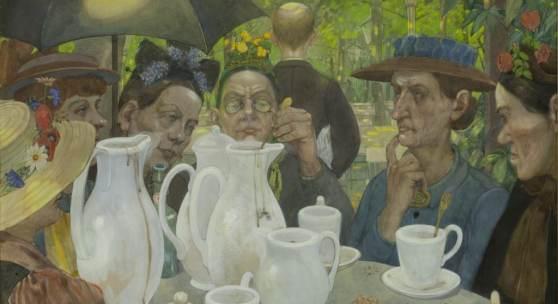Hans Baluschek Hier können Familien Kaffee kochen, 1895 Mischtechnik auf Pappe Bröhan-Museum Foto: Martin Adam, Berlin