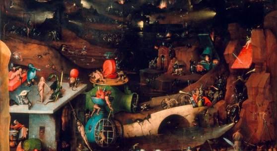 Hieronymus Bosch (um 1450-1516), Weltgerichtstriptychon, Innenseite, Mitteltafel, zwischen 1504 und 1508 datierbar © Gemäldegalerie der Akademie der bildenden Künste Wien