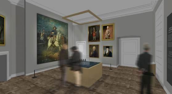 Ein Vorgeschmack Visualisierung eines der Räume durch die Ausstellungsgestalter, 2018 © whitebox GbR, Dresden