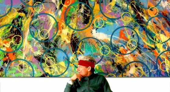 B.U.: Horst Gläsker im Atelier Photo Cecilia Gläsker