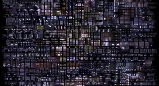 Hubert Blanz, Urban Codes – Lichtdiagramm 04, 2018, C-Print auf Dibond, entspiegeltes Glas gerahmt, 114 x 149 cm