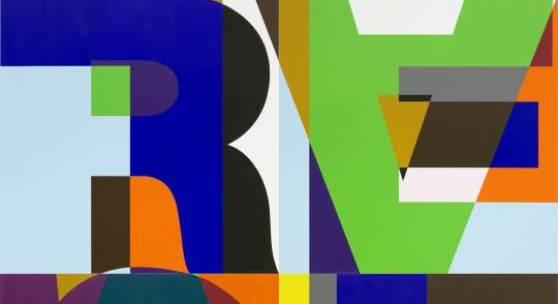 HZ 2012-003  Heimo Zobernig, ohne Titel, 2012, Acryl/Leinwand, 400 x 400 cm, Foto Archiv HZ, Courtesy Galerie Juana de Aizpuru, Madrid © VBK, Wien 2013