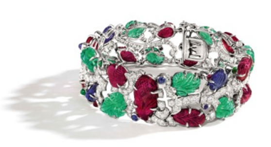 Timeless Tales of Legendary Jewellers  Led by a Rare and Important Art Deco Gem Set and Diamond 'Tutti-Frutti' Bracelet, Cartier Estimate: HK$10,500,000 – 14,000,000/US$1,300,000 – 1,800,000