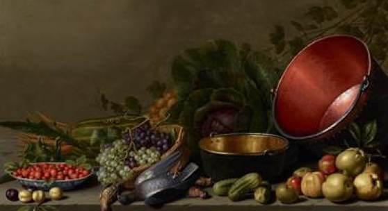 Floris van Schooten (1585/88-1656), A Kitchen Still Life, at Johnny van Haeften Ltd