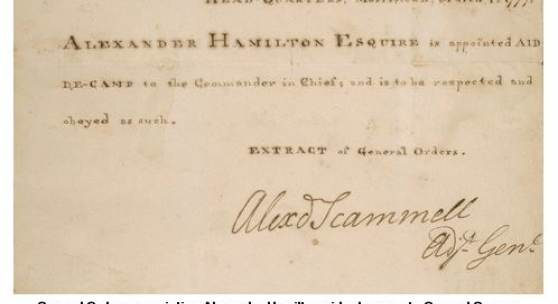 Alexander Hamilton, Family Archive of Letters and Manuscripts