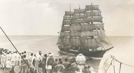 Die PEKING unter Segeln auf dem Atlantik, 1920er Jahre, © Archiv Laeisz-Reederei
