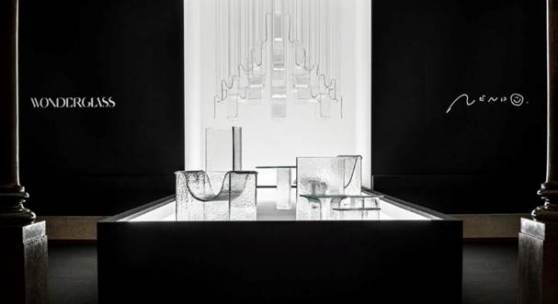 WonderGlass collaborates with nendo to present Shape of Gravity
