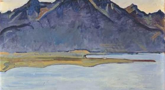 FERDINAND HODLER, LE GRAMMONT APRÈS LA PLUIE, 1917 Der Grammont nach dem Regen, Öl auf Leinwand 60.5 x 80 cm Rudolf Staechelin Collection