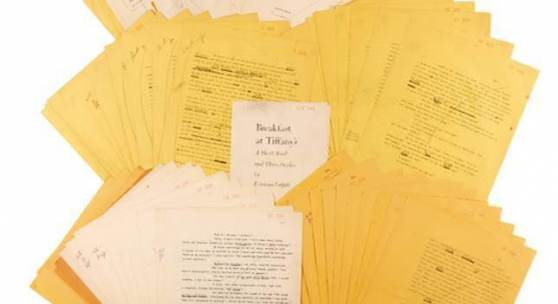 Breakfast At Tiffany's Typescript Sells for £377,000 at Sotheby's