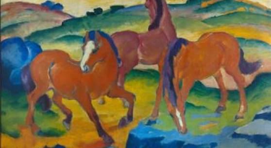 Franz Marc, Weidende Pferde IV, 1911, Busch-Reisinger Museum, Cambridge, USA