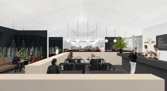 Render of the Fair's VIP lounge restaurant, 34 Mayfair