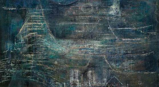 """Zao Wou-Ki (1921 - 2013) """"Deux ames"""", 1952. Oil on canvas. Signed and dated. 54 x 65 cm"""