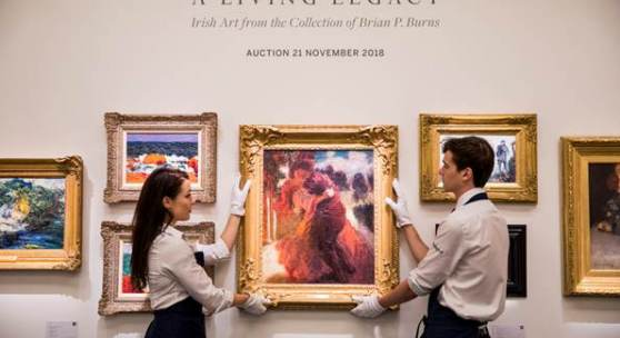 Irish Art from the Collection of Brian P. Burns Totals £3.3m / €3.7m / $4.2m