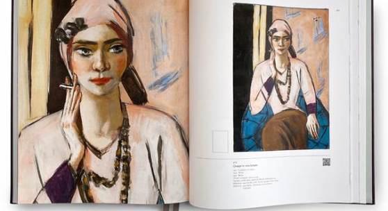 """Abbildung aus der Publikation """"Max Beckmann. Die Gemälde"""" mit dem Werk von Max Beckmann, Quappi in Rosa Jumper, Öl auf Leinwand, 105 x 73 cm, Kat. Nr. 404"""