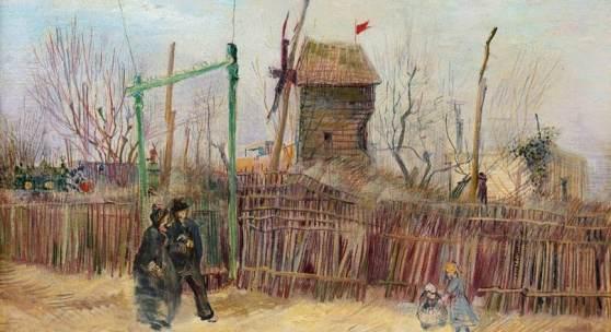 Private Collection, France  Vincent van Gogh Scène de rue à Montmartre (Impasse des deux frères et le Moulin à Poivre), 1887 oil on canvas 46.1 x 61.3cm; 18⅛ x 24⅛ in. Estimate: €5,000,000 – 8,000,000  © Sotheby's / ArtDigital Studio