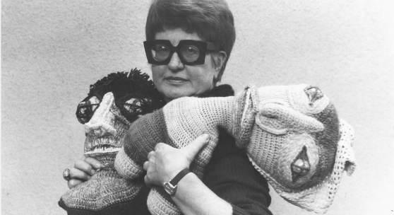 Lieselott Beschorner, 1980, Schwarzweißfoto, © Wien Museum MUSA, Foto: Hansi Hubmer