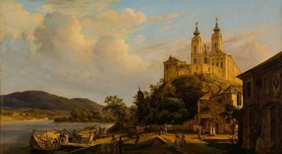 Thomas Ender, Blick auf Stift Melk, 1841 © Landessammlungen NÖ